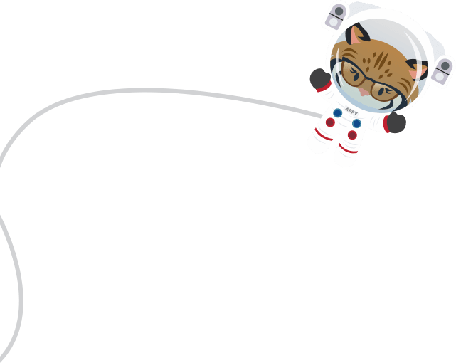 Appy on a tether in space