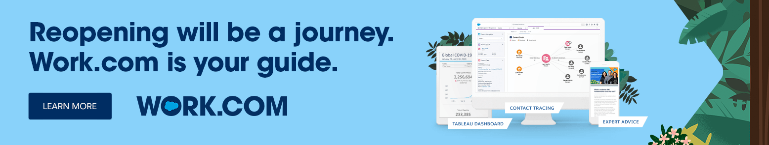 Reopening will be a journey. Work.com is your guide. Learn More.