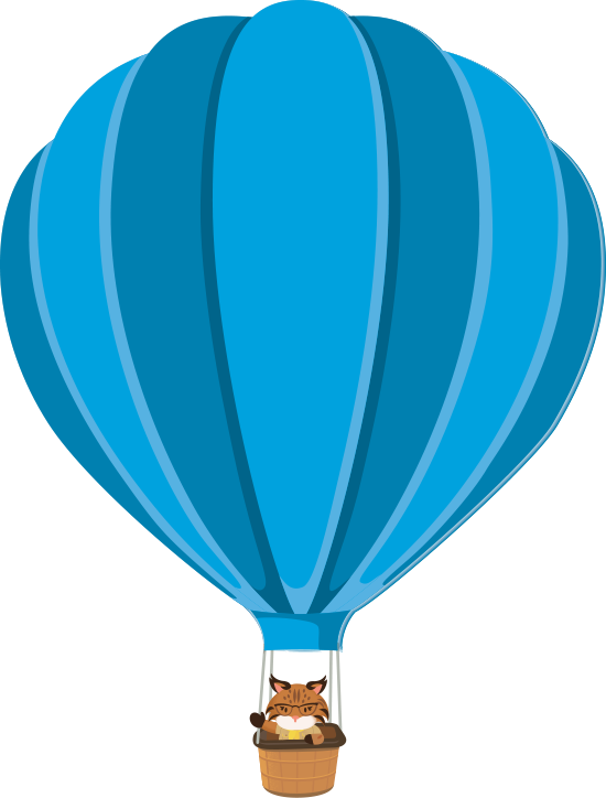 Appy Waving from a hot air balloon
