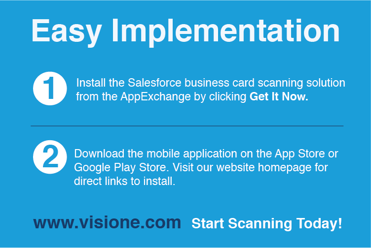 Vision E Scan Business Cards Into Salesforce With Your Mobile Device
