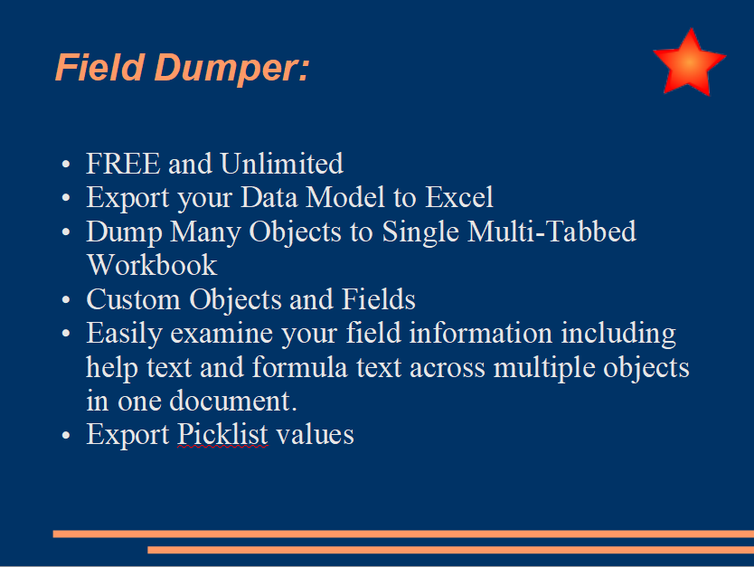 Field Dumper - Extract Data Model to Excel