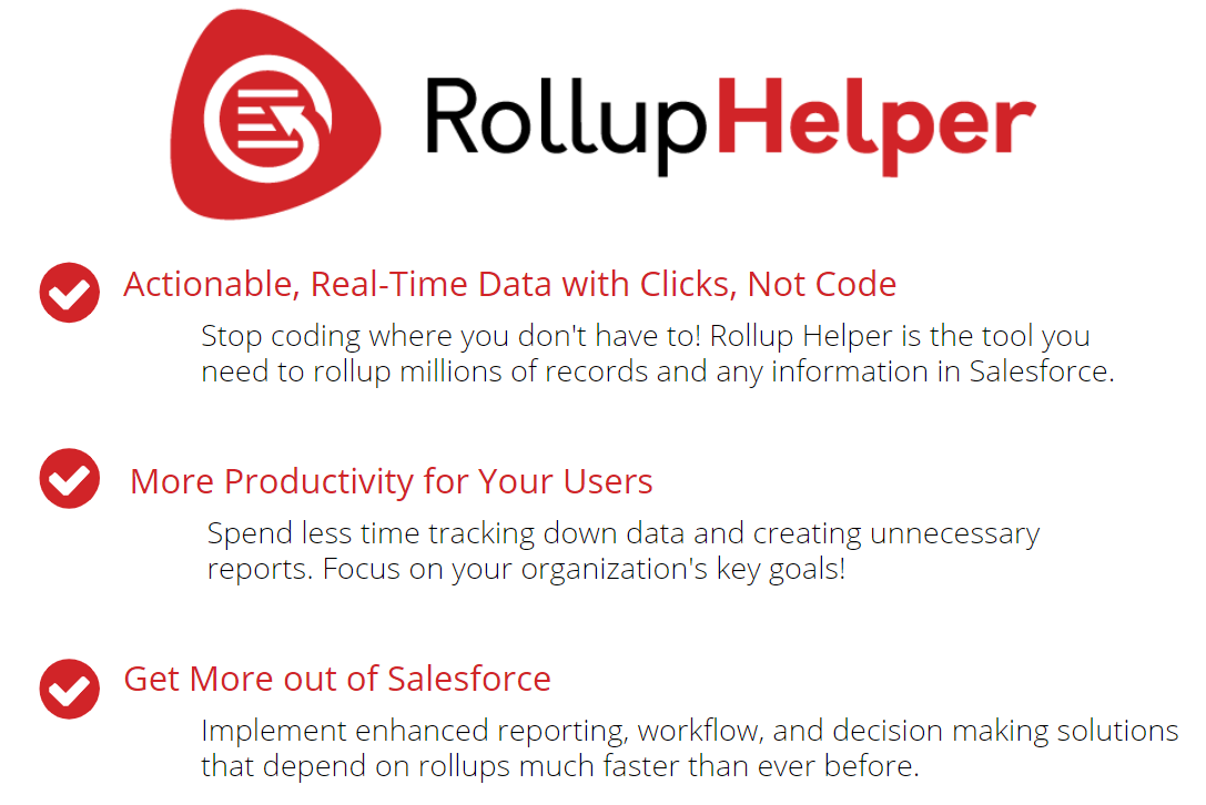 Rollup Helper - The Trusted, Scalable, Roll-Up Engine for Salesforce
