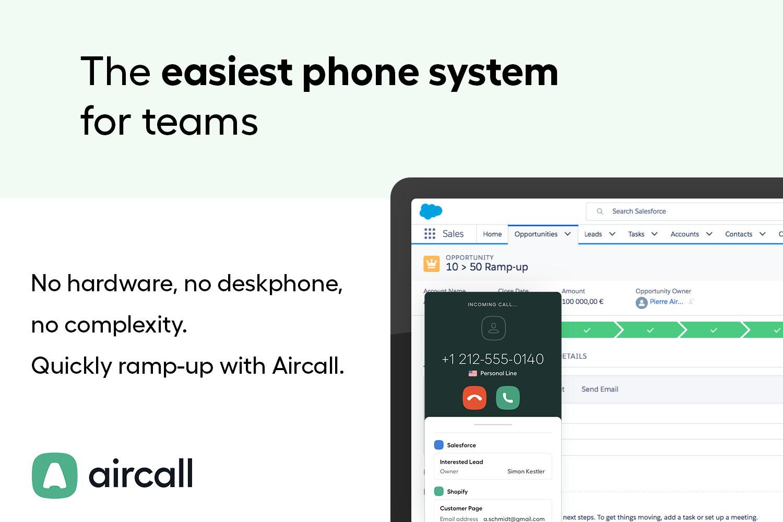 Aircall CTI | Phone system integration, Call center, Phone dialer, Telephony